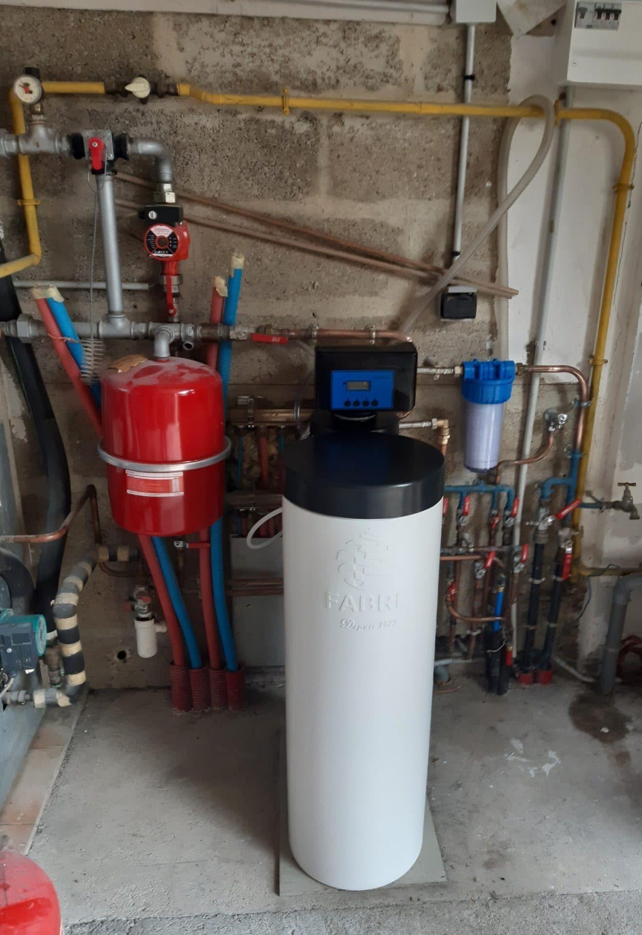 Installation d'un Ecotech à La Ferté-Bernard (72) - Adoucisseur d'eau pour particuliers