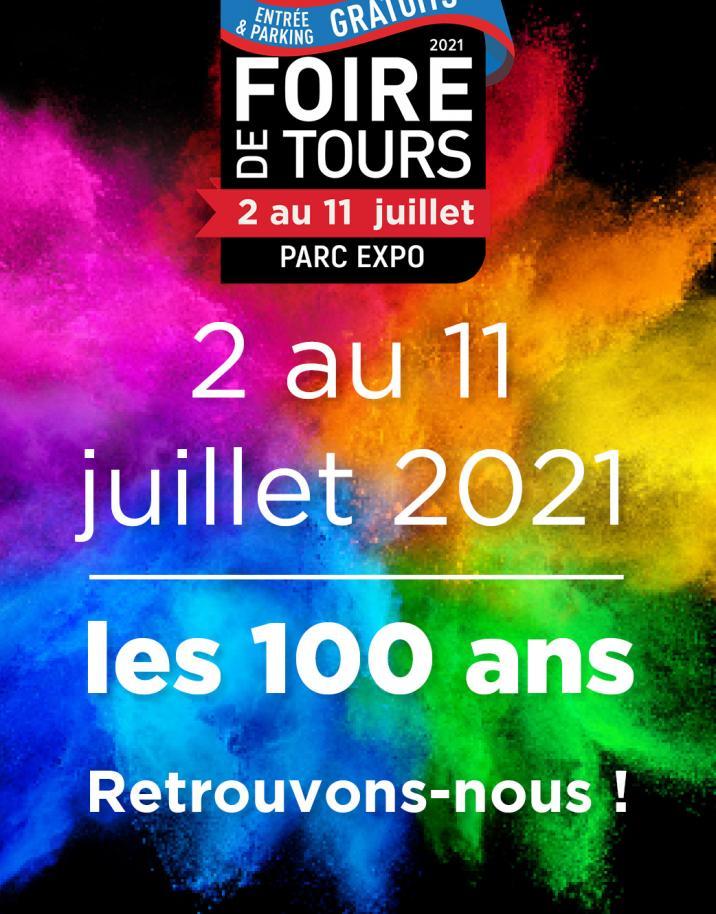 Foire de Tours du 2 au 11 juillet 2021.